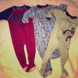 Boys footy pajamas